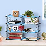 Biblioteca de Bricolaje Display Storage Shelf Room Divider Step Rack, Capacidad...