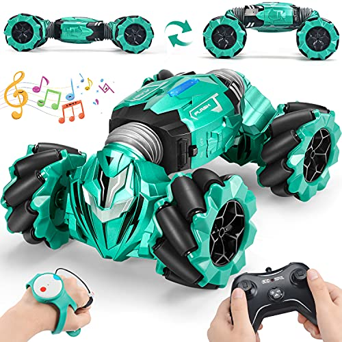 RC Stunt Car Toy Remote Control Car with 2 Sided 360 Rotation Gesture Sensor Toy Car 4WD Transform Off Road Vehicle for Boy Kids Girl Birthday