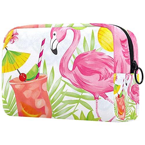 Bolsa de Maquillaje Bolsas de cosméticos de Viaje portátiles, Aromas Frescos Fiesta de flamencos
