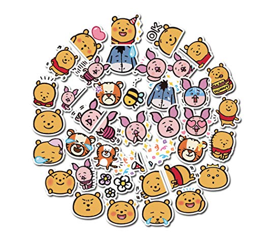 votgl 40 stuks baby beer cartoon Winnie Pooh sticker anime sticker muursticker voor kinderen geschenk opblaasbare beloning kamer decoratie 2020