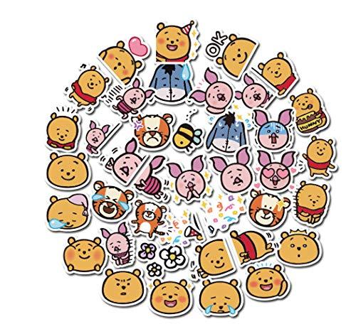 votgl 40 stuks baby beer cartoon Winnie Pooh sticker anime sticker muursticker voor kinderen geschenk opblaasbare beloning kamer decoratie 2020