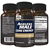Ageless Male Core Energy for Men - Fast-Absorbing NMN for Conversion to NAD+, Fight Fatigue & Promote Sustainable Energy on The Cellular Level, No Caffeine (60 Capsules, 1 Bottle)