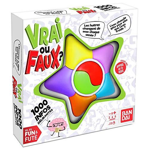 Bandai Funs & futés-Vrai ou Faux société-Jeu d'ambiance interactif pour la Famille et Les Amis, ZZ06212