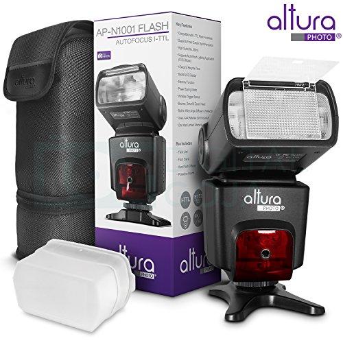 Altura Photo Studio Pro Flash Kit for Nikon DSLR Bundle with 2pcs I-TTL Flash AP-N1001, Dual Wireless Flash Trigger Set and Accessories