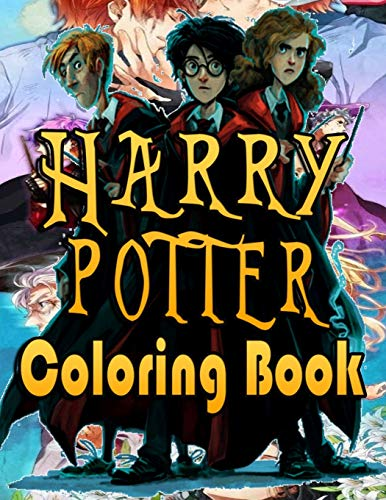 Harry Potter Coloring Book: A Great Gifts For Adults Who Love Harry Potter. Many Designs Of illustrated Harry Potter To Color For Relaxation And Stress Relief