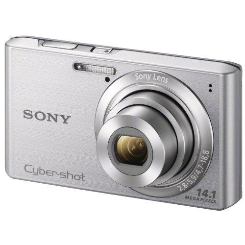 Sony DSCW610 Digital Still Camera - Silver (14.1MP, 4x Optical Zoom) 2.7 inch LCD