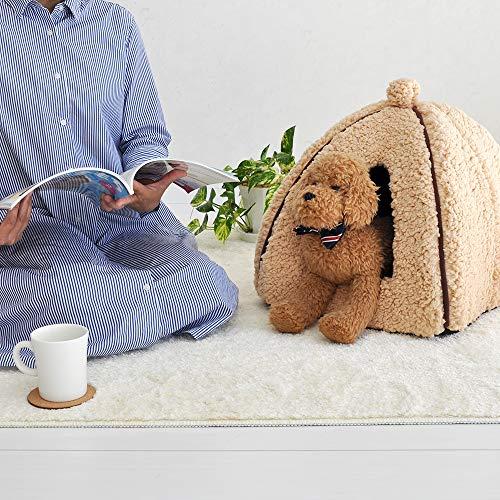 「プチリュバン」ブランドのペットベッドペットハウスMピンク(ワンちゃん、イヌ、犬、ドッグ、ネコちゃん、猫、キャット用)