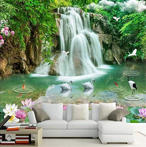 Behang 3D Grote Behang Niet Geweven Muur Muren Moderne 3D Stereo Waterval Landschap Dag Tv Wandachtergrond Schilderijen, 120 * 100Cm