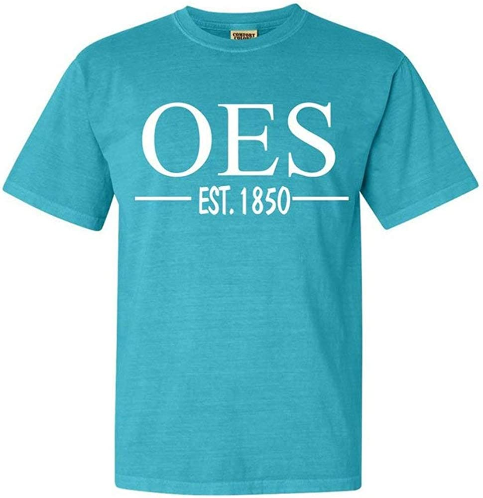Order of Eastern Star Custom Greek Lettered Short Sleeve T-Shirt Comfort Colors