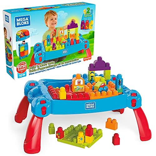 Mega Bloks mesa construye y aprende color