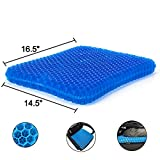Gel Seat Cushion, Egg Seat Cushion Chair Pads with Non-Slip Cover for Home Office Car Wheelchair, Breathable Honeycomb Design Help Relieve Pain,Durable, Office & Car Use
