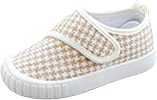 Hopscotch Boys Cloth Geometric Printed Sneakers in Beige Color