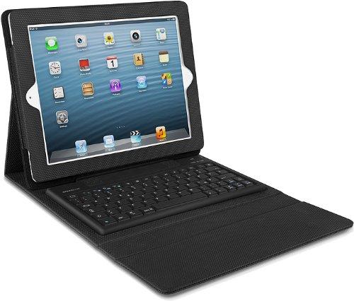 Speedlink Cordo Schutzhülle (geeignet für Apple iPad 3/iPad 4, mit Bluetooth-Tastatur und Standfunktion, Kamera/Anschlüsse/Tasten frei erreichbar) schwarz