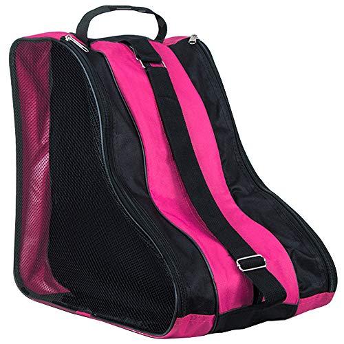 LINVINC Schlittschuhe Tasche Kinder und Erwachsene - Unisex Rollschuhe Tasche Ice Skate Tasche Bag Wasserabweisend Rosa