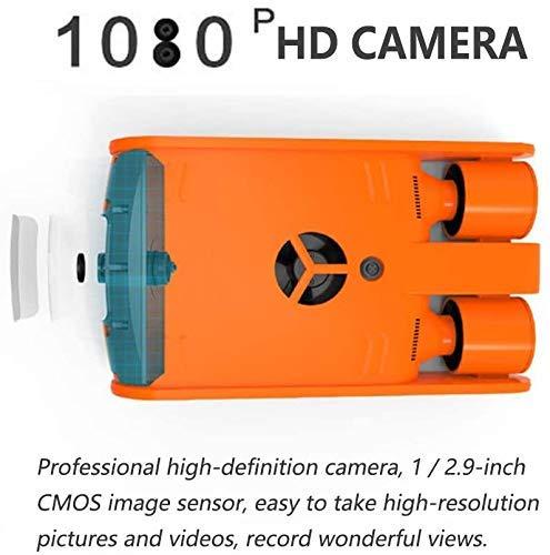 BOC Tragbare Tauchdrohne, 4K-HD-Kamera für Unterwasseraufnahmen, 120M32G Speicherkapazität, Such- und Rettungsroboter für den Unterwasserbetrieb