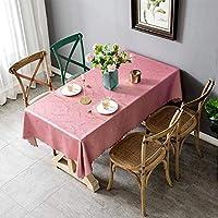 防水性、防水性、耐油性、耐熱性の北欧 テーブルクロス (Color : Pink, Size : 110*160CM)
