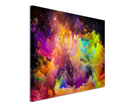 Paul Sinus Art XXL Fotoleinwand 120x80cm Knallige Bunte Farbwolken auf Leinwand Exklusives Wandbild Moderne Fotografie für ihre Wand in vielen Größen