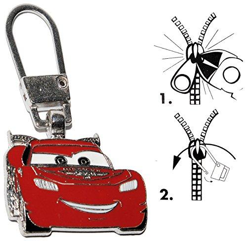 alles-meine.de GmbH Zipperanhänger -  Disney Auto Cars - Lightning McQueen  - Anhänger für Reißverschluss - Zipper - für Kinder / Mädchen & Jungen - Reißverschlußanhänger - Jac..