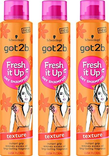 Schwarzkopf Got2b Fresh It Up Texture Trockenshampoo 200 ml, 3 Stück