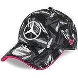 New Era - Gorra réplica de Mercedes eSports AOP 9Forty Strapback Cap - Negro, Negro , Talla única