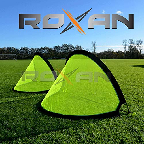 Roxan Vishwa 2 Portable Soccer Goals with Carry Bag with Durable Frame (Multicolour, 40x31.5x31.5-inch)