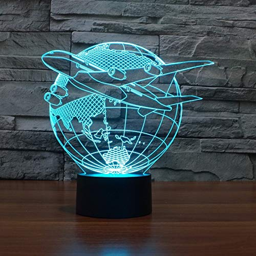 Comodino modello lampada da tavolo aereo da combattimento piano luce illusione modello rapace