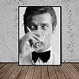 James Bond Roger Moore Poster Drucke Wandkunst Bilder