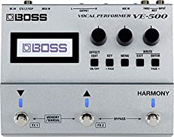 in budget affordable BOSS Vocal Performer Guitar Effects Pedal (VE-500) – Silver