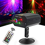 Party Lights Disco Lights Strobe Stage Light LED Projection Effect Sound Activated with Remote Control for Birthday Bar Club Wedding Christmas KTV Karaoke
