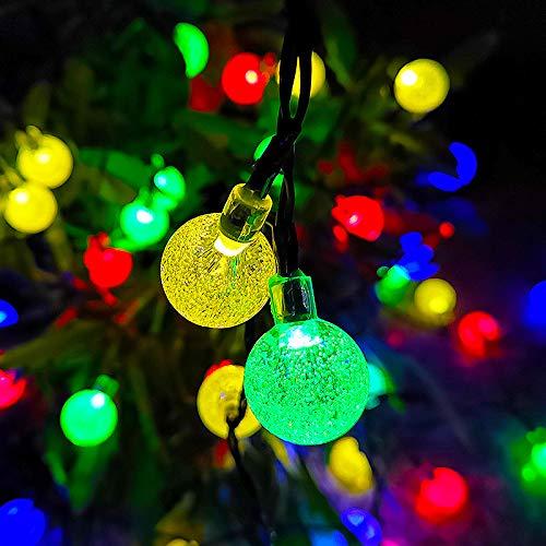 Outdoor Solar String Lights with Metal Lamp Shades, Indoor/Outdoor Hanging Lights for Cafe Backyard Garden Porches Deck Market Pergola Garden Decor,colored