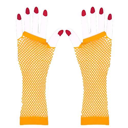 HINK Guantes de Malla de Nailon sin Dedos Guantes de Malla elástica de muñeca para niñas Ropa de Mujer Ropa Zapatos y Accesorios Guantes