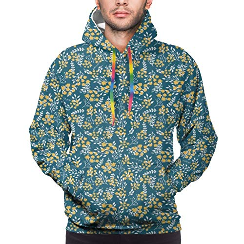 Hangdachang Flower Bouquet Botanical Country Youth 3D Printed Hooide Sweatshirt with Pocket XXXL
