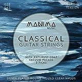 Set di corde per chitarra classica e acustica con 3plettri, in nylon di alta qualità (c...