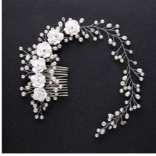 PiniceCore Hochzeit Haarschmuck Hairbands Braut Stirnband Krone und Diademe Brauthaar-Zusätze Hairbands Schmuck