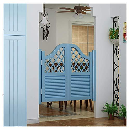 Swinging Cafe Doors, mediterrane Cowboy-Tür Massivholz Zaun Tor Free Switch Partition Wasserfarbe, anpassbar Multi-Größen (Farbe: B, Größe: 75x80cm)