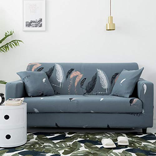 ASCV Fundas de sofá con Estampado Floral para Sala de Estar Funda elástica elástica Fundas de sofá de Esquina seccionales A2 4 plazas