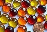 Bazare Masud e.K. HG-GKKO-4N7H, Orange, Flache Glaskugeln - 2
