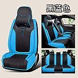 Voiture Seat Cover,Cuir Housse de siège de Voiture Fit Audi TT R8 a1 a3 8p A4 A6 8l A5 Sportback a7 a8 A8L Q3 Q5 Q7 Accessoire Voiture, Noir avec Bleu