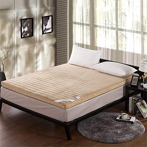 "GFYL Coral Fleece Verdicken Matratze, Japanischen futon Tatami,Anti-rutsch Faltbare matratze,Single Double Matratze Für Home Schule Kabine,D,59.1\""X79\"""