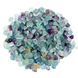 WAYBER Decorative Crystal Pebbles, 1 Lb/460g (Fill 0.9 Cup) Natural Quartz Stones Aquarium Gravel Sea Glass Rock Sand for Fish Turtle Tank/Air Plants Decoration