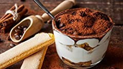 See how you can process ingredients for Tiramisu from your home. Discover how to pair perfect Mascarpone cream with various amounts of cheese. Learn how to adjust the coffee flavoring within the dessert.