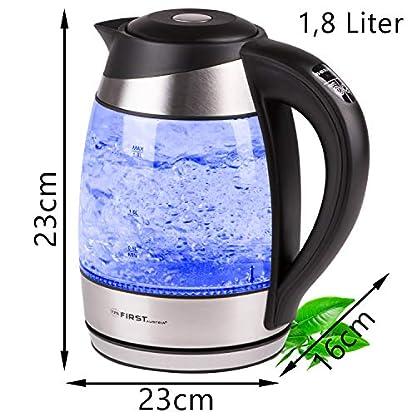 TZS-First-Austria-18L-Edelstahl-Glaswasserkocher-mit-Temperatureinstellung-40-grad-Baby-Wasserkocher-farbwechsel-LED-Beleuchtung-Farbe-je-nach-Temperaturwahl-40-60-70-90-100C-Filter-schwarz