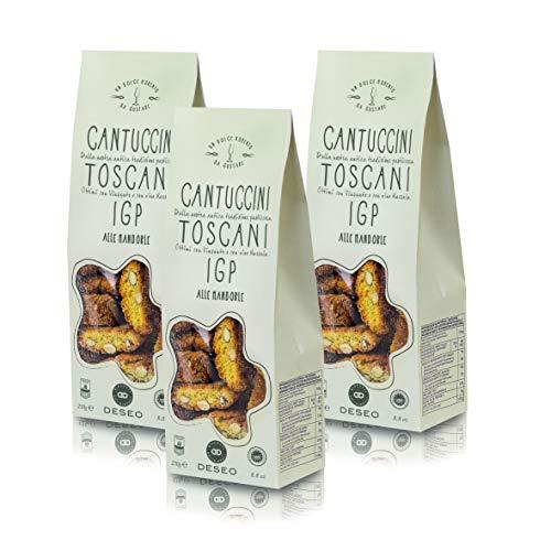 Deseo 3 Confezioni di cantuccini toscani IGP alle mandorle, Biscotti Artigianali - 3 x 250g
