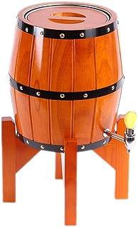 Yuan vinification futs 7L chêne barrique vin Baril vin Baril en Bois Baril bière Baril ménage 304 Doublure en Acier Inoxyd...