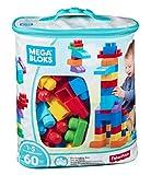 Mega Bloks Bolsa clásica con 60 bloques de construcción, juguete para bebé +1...