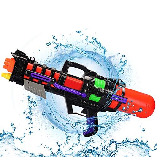 pistole ad acqua giocattolo,pistola ad acqua grande,pistola ad acqua lunga distanza,pistola ad acqua per bambini adulti,pistola ad acqua estivo,water pistol,pistola ad acqua all'aperto (nero rosso)