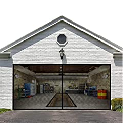 MAGNETIC SCREEN MESH DOOR with Full Frame Magic Tape.Tip: Our Real Fiberglass Screen weighs up to 2350g(5.2LB) and Most of the products on the market are made of other materials. Our 16.3*7.15FT mesh screen can be used as a substitute for fixed scree...