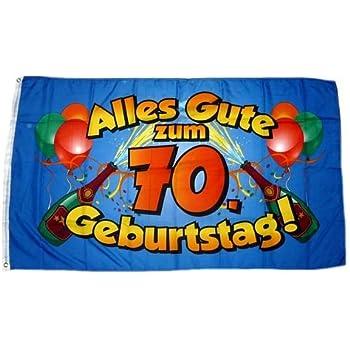 Geburtstag blau Hissflagge 90 x 150 cm Flagge Fahne Alles Gute zum 70