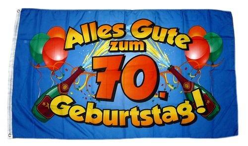Fahne/Flagge Alles Gute zum 70. Geburtstag 90 x 150 cm