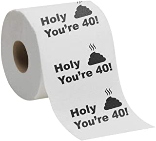 40th Birthday Gift Present Toilet Paper - Happy Fourtieth 40 Prank Funny Joke Present - Novelty Great Hilarious Gag Laugh